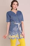 Блузки Модель 1062-б темно-синий Магия Моды