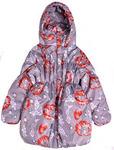 Распродажа! Полупальто утепленное фиолет маки размеры 98-134 арт. 29.11 Размеры 104-134