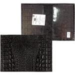 Обложка для паспорта PRT-П-21 н/к кайман черный