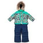"""Зимний комплект Kiko для мальчика """"Тим"""" (зеленый/синий), 1-8 лет"""