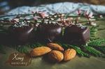 Конфета Марципан в тёмном шоколаде, 12 шт