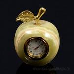 Часы из оникса яблоко1 (5*6,5см), 200гр