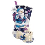 Bucilla Arctic Santa Felt Applique Stocking Kit, 86653 18-Inch