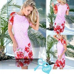 Яркое гипюровое платье 42 44 46