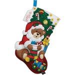 Bucilla Sugar Plum Fairy Christmas Stocking Felt Applique Kit, 85431 18-Inch
