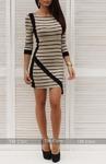 Платье угол беж