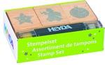 """Скрапбукинг: Набор штампов из дерева и штемпельным карандашом """"HEYDA"""""""