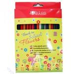 Карандаши цветные Back to School Flowers шестигранные, заточены, 18 штук в коробке