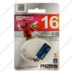 Флеш-накопитель 16Gb Silicon Power USB 2.0 Touch 810 Blue