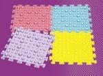 """Массажный коврик, """"Волшебные камешки"""" состоит из 4 модулей"""
