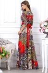 Платье красное зебра трикотаж