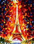 Картины-раскраски по номерам 40*50 G 186 Эйфелева башня