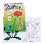 Раскраска Посмотри и раскрась. Первые уроки Полевые цветы156384