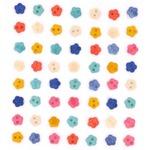 Набор декоративных пуговиц 'Dress It Up'8320 Детские цветочки