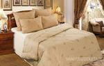 Одеяло верблюжья шерсть в тике 300 гр. ОТВШ  Евро 220