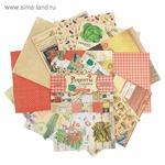 """Набор бумаги для скрапбукинга """"Рецепты счастья"""", 12 листов 29,5 х 29,5 см"""