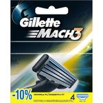 Gillette Mach3 сменные лезвия (4 шт)