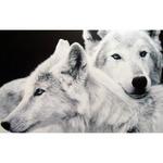 Мозаичная картина Влюбленные волки 38х48см AG406 полная квадрат