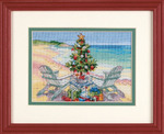 Dimensions Needlecrafts Counted Cross Stitch, Christmas On The Beach