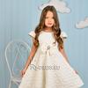 Платье нарядное для девочки арт. ИР-1901, цвет молочный