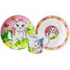 Набор детской посуды VC-1203 Кошечка 3пр керамика