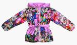 4222  Куртка для девочек на флисе (ростовка 140-146)