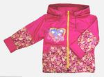 4143 Куртка для девочек на флисе (ростовка 98-128)
