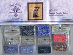 Mirabilia Cross Stitch Chart with Embellishment Pack AUGUST PERIDOT FAIR #122