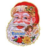 """Наклейка на стекло RX-SD14-96M """"Дед Мороз"""" в пакете"""