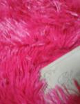 Плед травка длинный ворс цвет фуксия