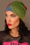 Шапка женская Разноцветные спирали