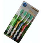 Зубные щетки с наночастицами нефрита с функцией чистки языка (4 шт)