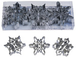 R & M International Snowflake with Cutouts Cookie Cutter Set (Set of 3), Multicolor