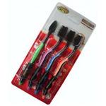Зубные щетки с бамбуковым углем с функцией чистки языка (4 шт)