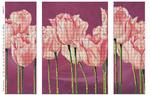 """""""Нежные тюльпаны"""" схема-заготовка для частичной вышивки бисером, триптих"""