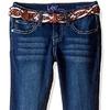 Lee Big Girls' Multi-Stripe Leather Belted Boot Jean