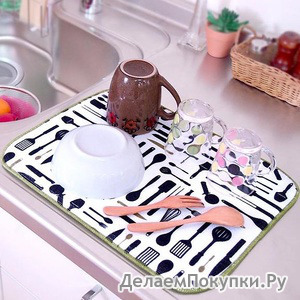 Коврик Microfiber для сушки посуды