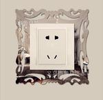 Декоративная рамка на выключатель зеркальная