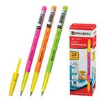 """Ручка шариковая BRAUBERG """"Color"""", корпус ассорти, толщ.письма 1мм, 141507, синяя"""