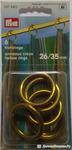 Кольца шторные PRYM диам внутр 26 мм, внешн 35 мм 6 шт в уп