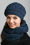Комплект вязаный  : шапка и снуд