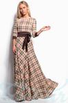 Длинное платье клетка 42 44 46
