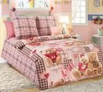 """1130 КПБ 1.5 спальный """"Плюшевые мишки"""" розовый"""