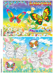 Раскраска А5 ''Бабочки'' 006