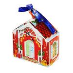 """Полотенце в коробке """"Collorista"""" Новогодний домик, 30 х 30 см, 100% хлопок 300гр/м2"""