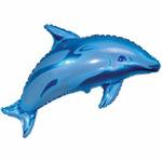 Шар фольгированный Фигура гр.4 И-84 Дельфин голубой 29см X 48см 902546