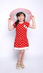 Платье детское. Горох
