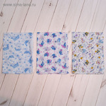 1551960 Пеленка для мальчика, размер 90*120 см, цвет МИКС 05-03С 3 ШТУКИ