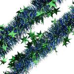 """Мишура """"Созвездие""""зеленый+синий 2м(25).088678"""