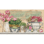 Dimensions Needlecrafts Counted Cross Stitch by Kathryn White, Flowers Of Paris